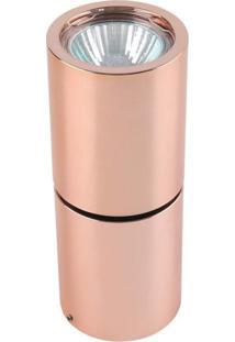 Spot Sobrepor Redondo Alumínio 16Cmx6Cm 50W Cobre Bella Iluminação Bivolt Gu10