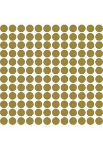Adesivo De Parede Bolinhas Douradas 144Un - Tricae