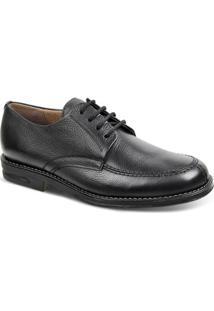 Sapato Conforto Couro Sandro & Co Masculino - Masculino-Preto