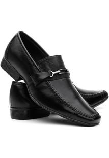 Sapato Social Couro Vr Masculino - Masculino-Preto