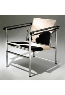 Poltrona Lc1 Decorativa Encosto Auto Ajustável Couro Clássica Design By Le Corbusier