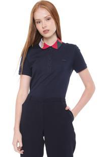 Camisa Polo Lacoste Reta Colors Azul-Marinho