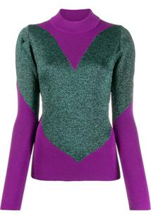 Gcds Heart Knitted Sweater - Rosa
