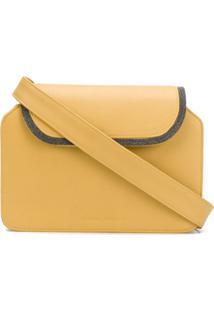Fabiana Filippi Bolsa Tiracolo Color Block - Amarelo