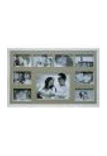 Painel De Fotos Bee Collection 43X68 Rustics 8 Fotos 10X15 E 1 Foto 20X25 Branco Kapos