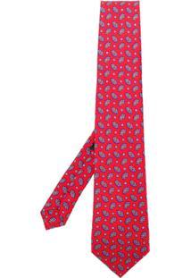 Etro Gravata Com Estampa Paisley - Vermelho