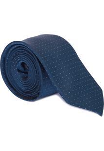 Gravata Class Mini Poá - Azul Marinho