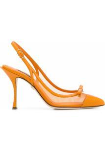Dolce & Gabbana Scarpin Com Laço - 8L200 Orange