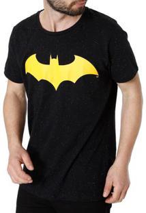 Camiseta Manga Curta Masculina Batman Preto