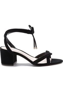 Sandália Block Heel Black   Schutz