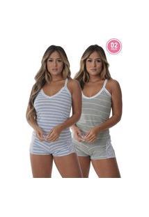 Pijama Para Dormir Grécia Kit 2