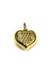 Pingente Coração De Ouro - Feminino-Ouro