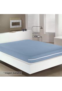 Capa Para Colchão Queen Size- Azul- 30X170X230Cmbuettner