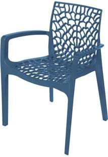 Cadeira Gruver Com Braco Polipropileno Azul - 30480 - Sun House