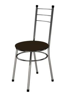 Cadeira Baixa 0.236 Redonda Cromado/Tabaco - Marcheli
