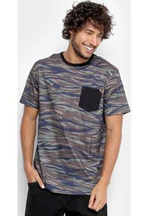 Camiseta Mcd Especial Full Camouflage Masculina - Masculino-Marrom+Marinho