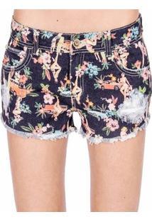25c76d5d6 R$ 261,00. Zattini Shorts Sarja Estampado Colcci - Feminino-Preto