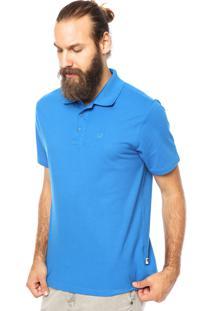 Camisa Polo Cavalera Assinatura Clássica Azul