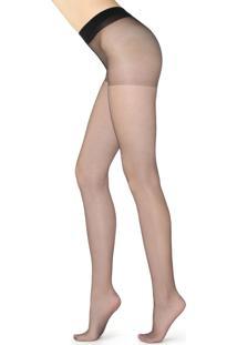 Meia Calça Modeladores Fio 8 Com Corpete Constritivo - Preto