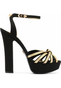 Dolce & Gabbana Sandália De Tiras Com Salto 140Mm - Preto