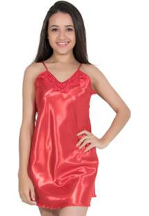 7fc90d62d Camisola Cetim Vermelha feminina