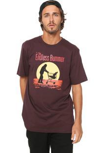 Camiseta ...Lost Endless Bummer Bordô