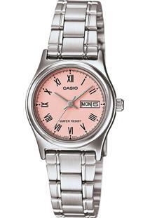 Relógio Casio Ltp-V006D-4Budf Prata - Kanui
