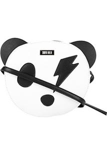 Bolsa Santa Lolla Mini Bag Panda Feminina - Feminino-Preto+Branco