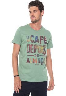 Camiseta Colcci Café Verde