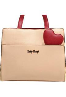 Bolsa Betty Boop Coração Feminina - Feminino-Areia