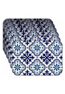 Jogo Americano - Love Decor Ladrilho Blue Kit Com 6 Peças
