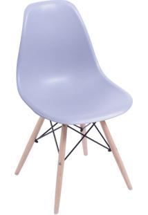 Cadeira Eames Base Madeira E Cinza