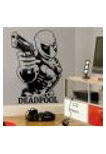 Adesivo De Parede Deadpool 5 - Eg 118X80Cm