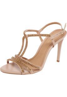 Sandália Dafiti Shoes Strass Nude
