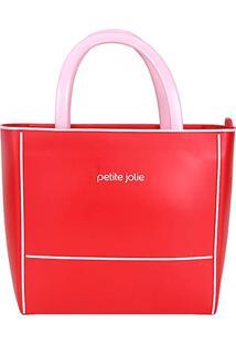 Bolsa Petite Jolie Tote Daily Bag Express Bicolor Feminina - Feminino-Vermelho