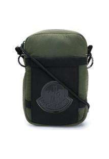 Moncler Bolsa Tiracolo Com Patch De Logo - Verde