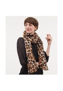 Cachecol Estampa Animal Print | Accessories | Bege | U