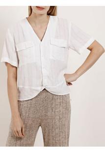 Camisa Manga Curta Feminina Autentique Branco