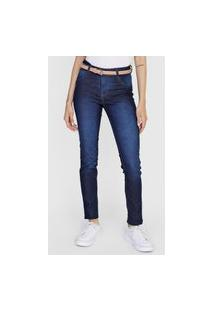 Calça Jeans Grifle Company Skinny Estonada Azul