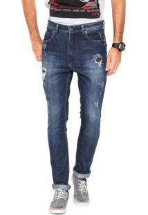 Calça Jeans Mcd New Slim Destroy Azul
