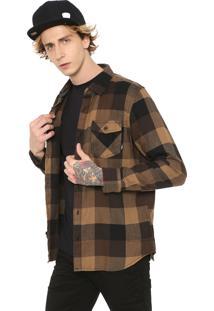 Camisa Vans Reta Box Marrom/Bege