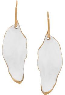 Marni Leaf Earrings - Branco