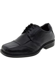 Sapato Masculino Social Com Cadarço Preto Parthenon - Jf207