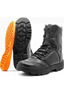 Bota Masculino Militar Atron Shoes - Masculino-Preto