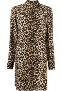 Equipment Chemise De Seda Com Estampa De Leopardo - Neutro