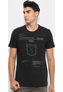 Camiseta Calvin Klein Estampada Masculina - Masculino-Preto
