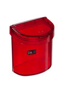 Lixeira Para Pia Glass 20,3 X 14,6 X 21,3 Cm 2,7 L Vermelho