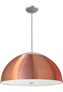 Pendente Em Vidro Com Difusor Para 1 Lâmpada Cobre