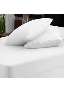 Capa Dourados Enxovais Para Colchão Branco Queen 03 Peças - Malha 100% Algodão