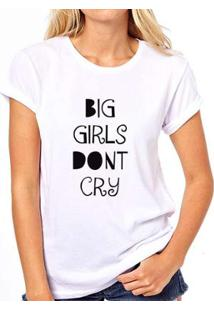Camiseta Coolest Big Girls Don'T Cry Feminina - Feminino-Branco